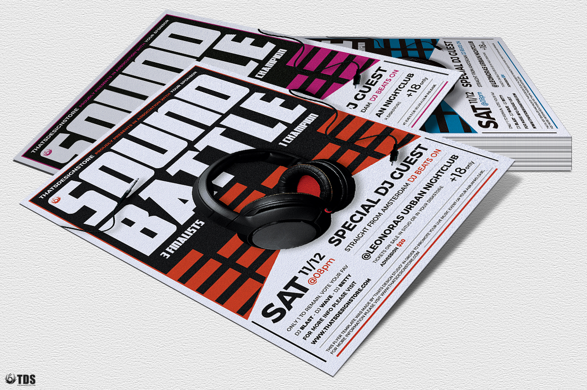 DJ Battle Flyer Template V3 example image 7