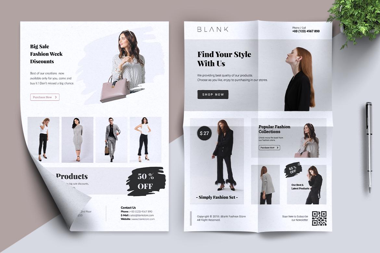 BALNK Minimal Fashion Flyer example image 8