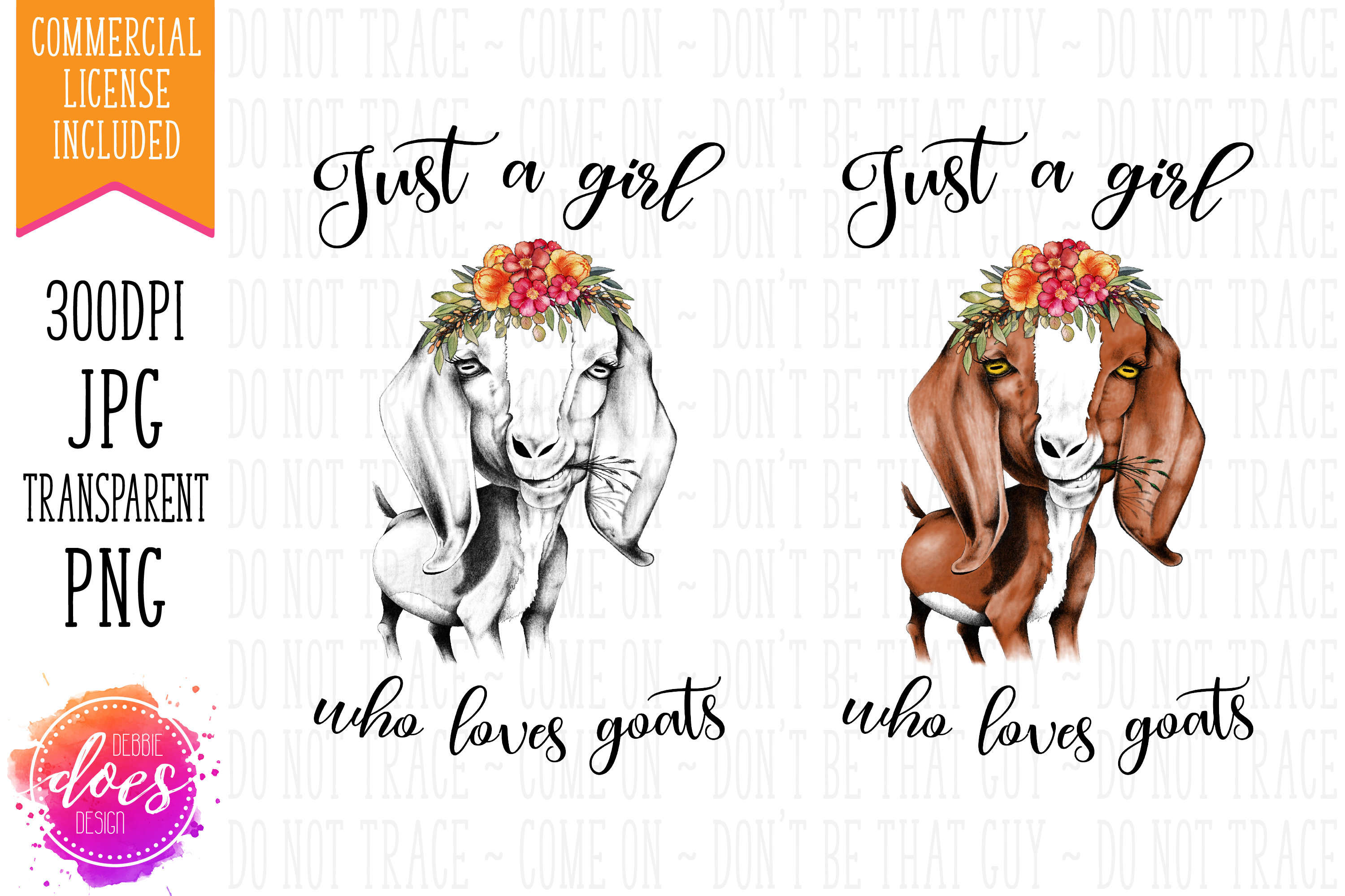 Just a Girl Who Loves Goats - Hand Drawn Printable Design example image 4
