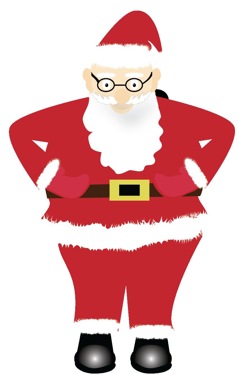 Print and Cut Santa Graphic File example image 4