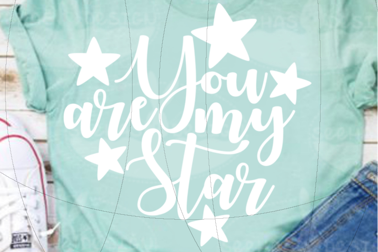 File You are my Star for Cutting Lasercut Print SVG PDF EPS example image 4