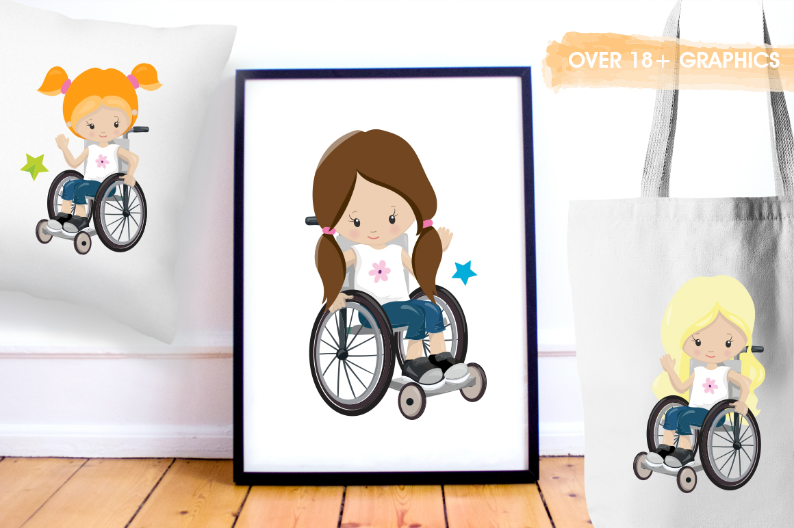 Little Girls graphic and illustrations example image 2