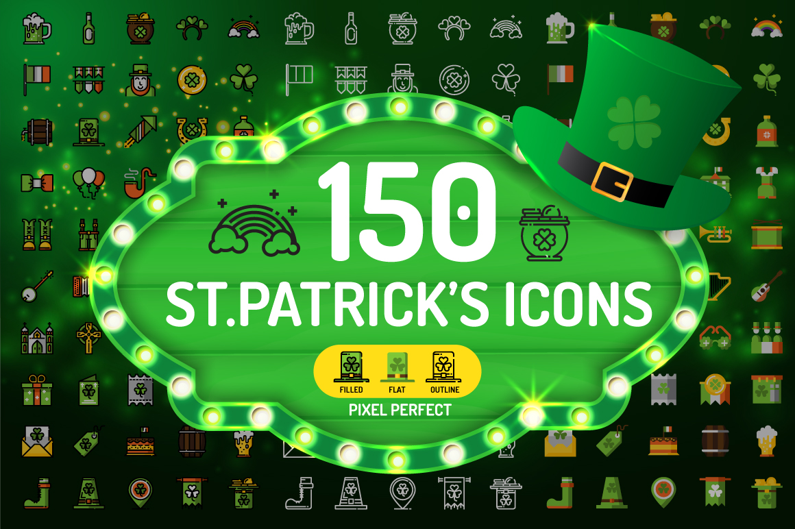 St.Patrick's Day Icons example image 1