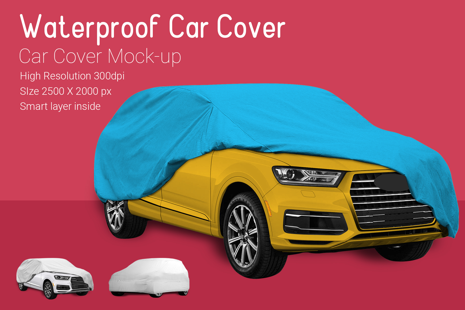 Car Cover Mock-Up example image 6