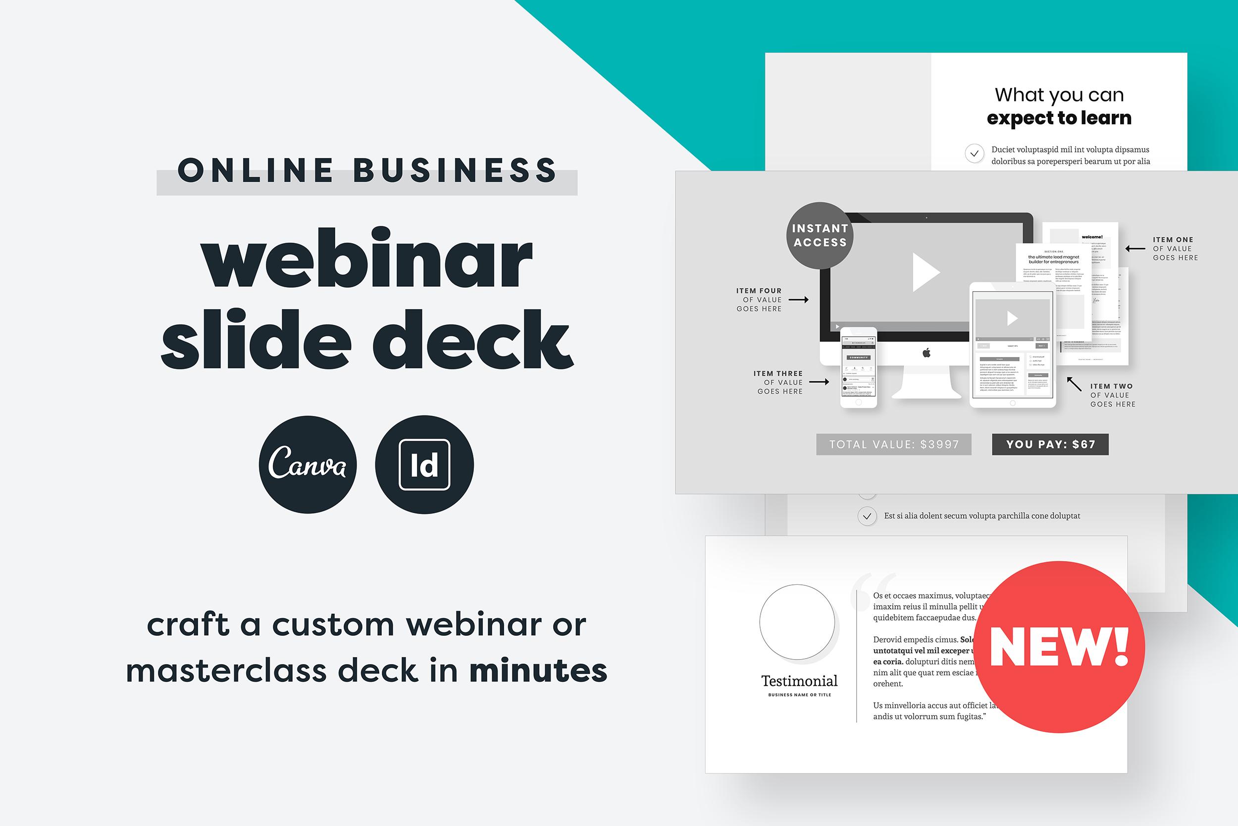 Webinar Slide Deck example image 1