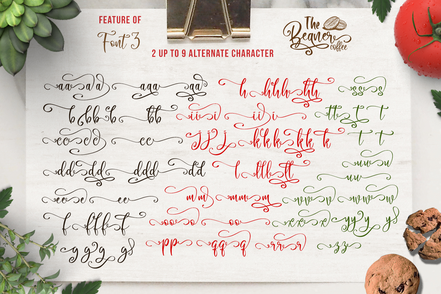 The Beaner - 5 Font & 41 Clipart example image 14