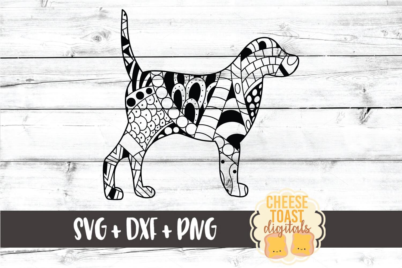 Dog Zen Doodle Art - Dog SVG PNG DXF Files example image 1