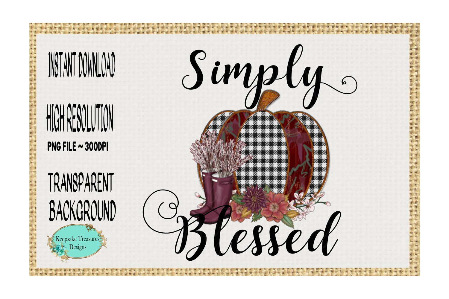 Simply Blessed Jewel Pumpkin example image 1