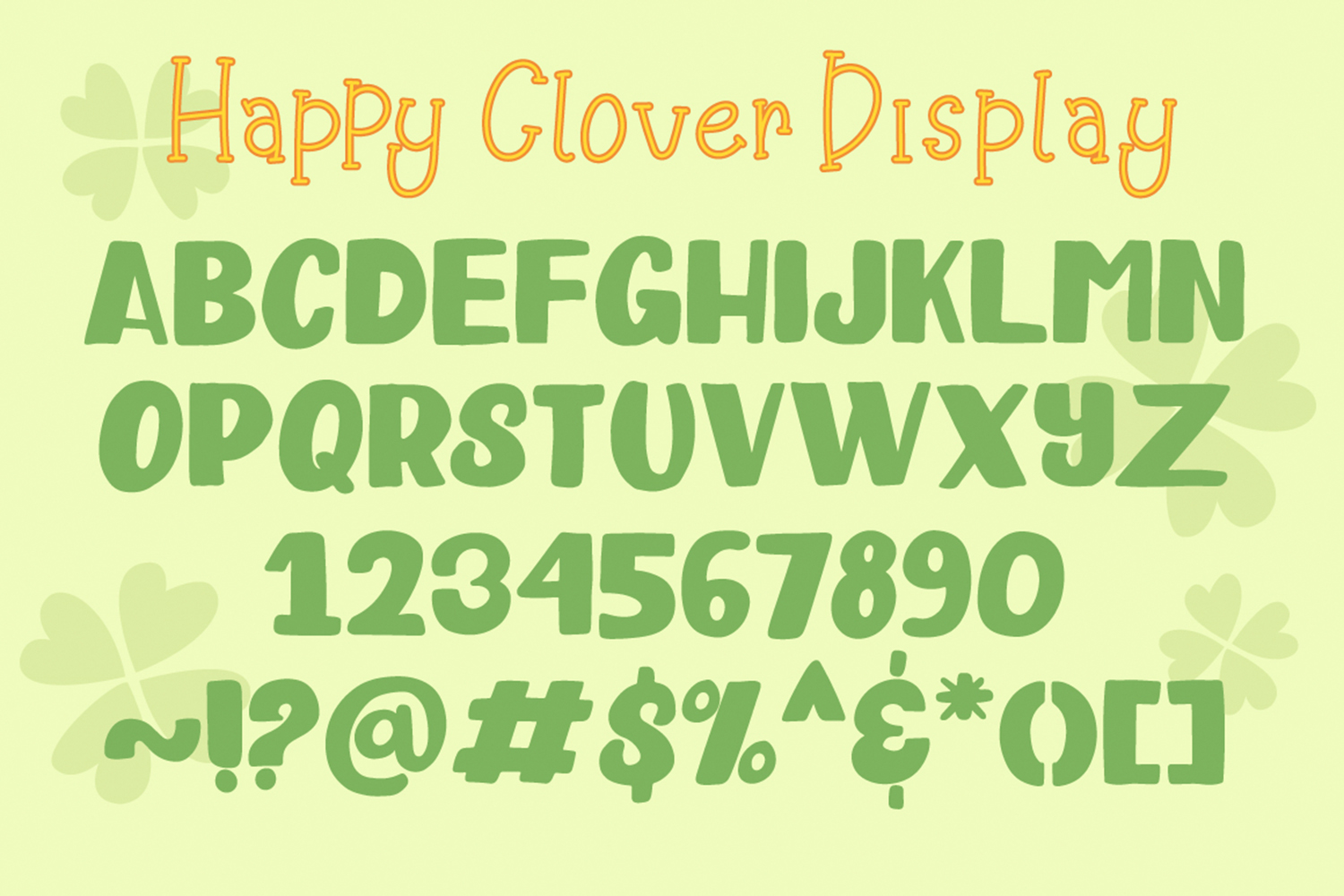Happy Clover Font Duo example image 6