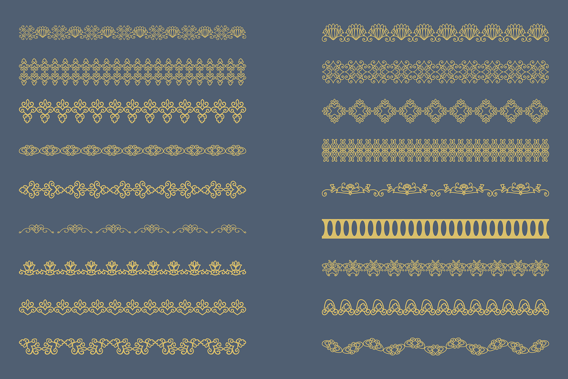 Bronze gold Lace Borders Clipart & Vectors example image 4