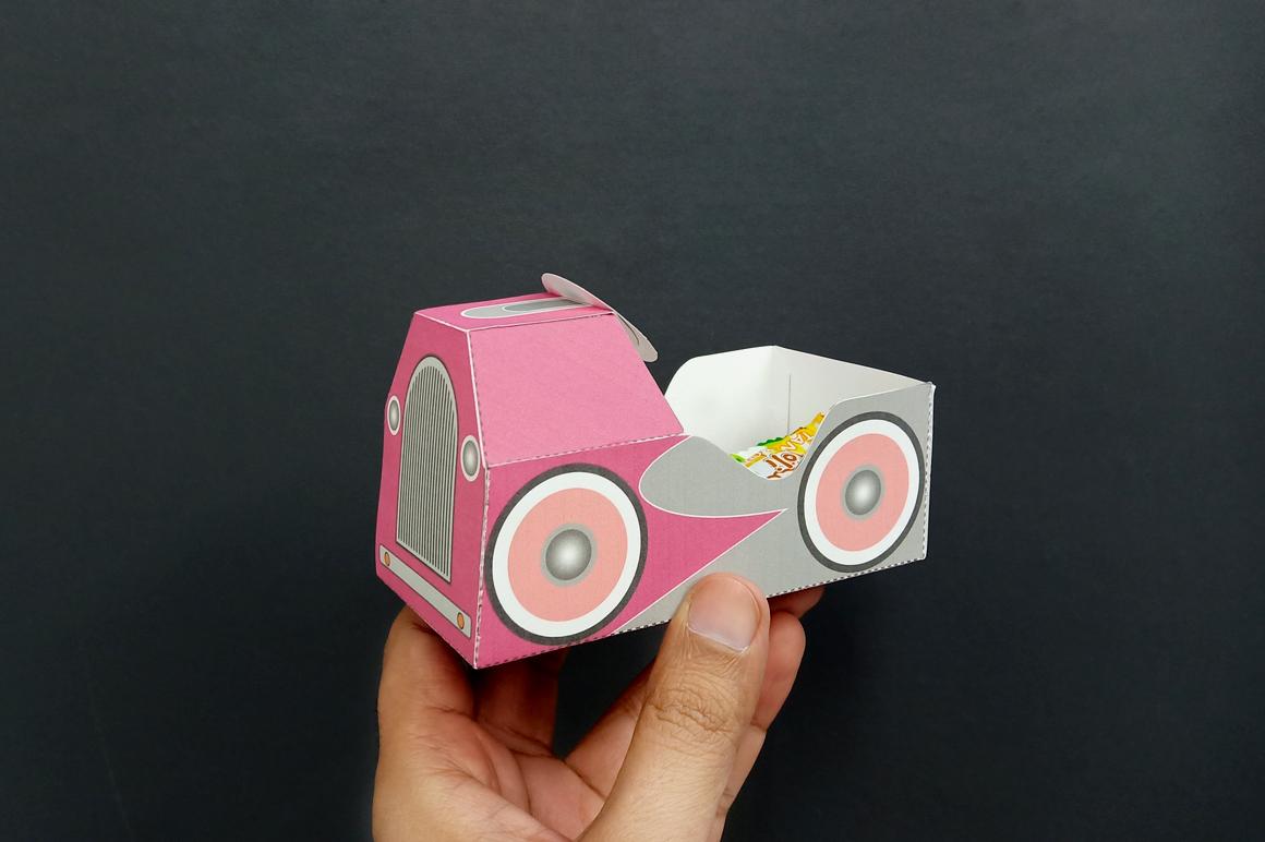 DIY Pedal car favor - 3d papercraft example image 10