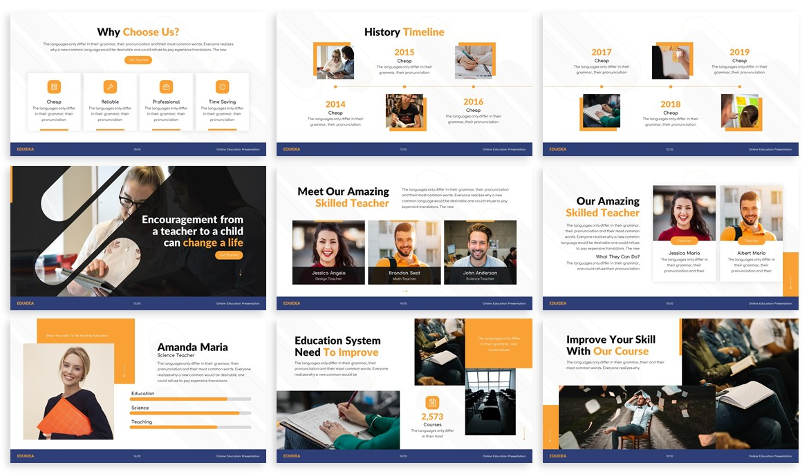 Eduidea - Education Powerpoint Template example image 3