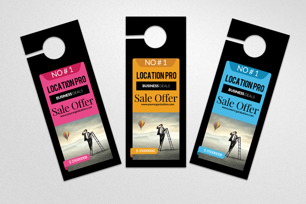 Business Solution Door Hangers example image 3