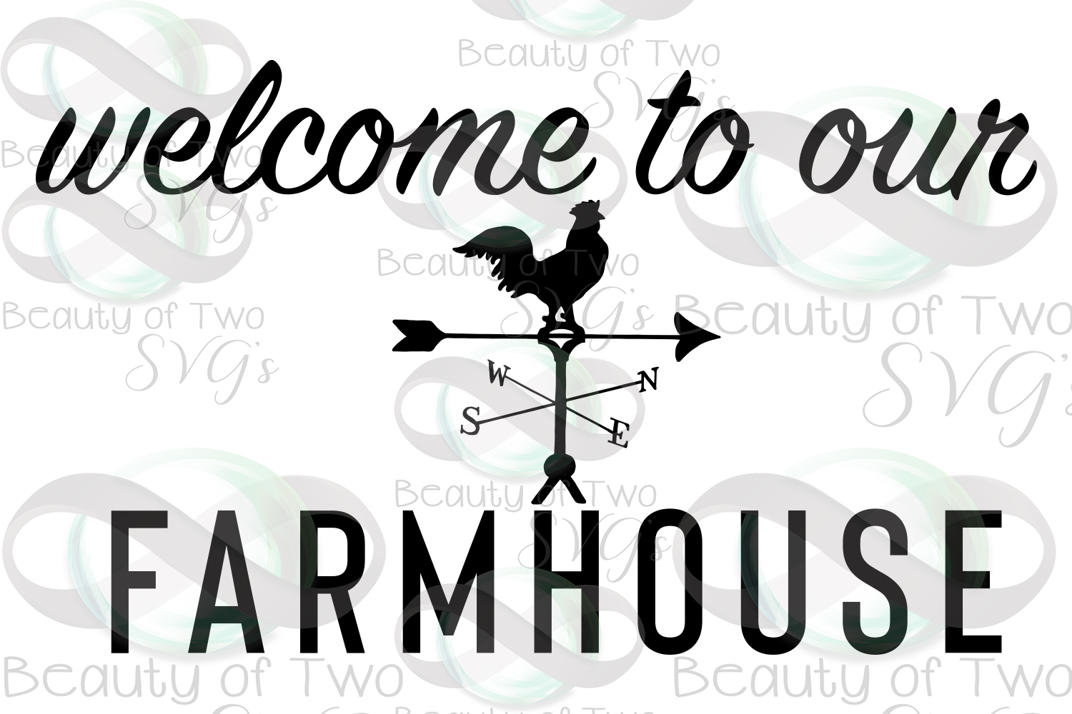 Farmhouse sign svg, Welcome to our Farmhouse svg and png example image 3
