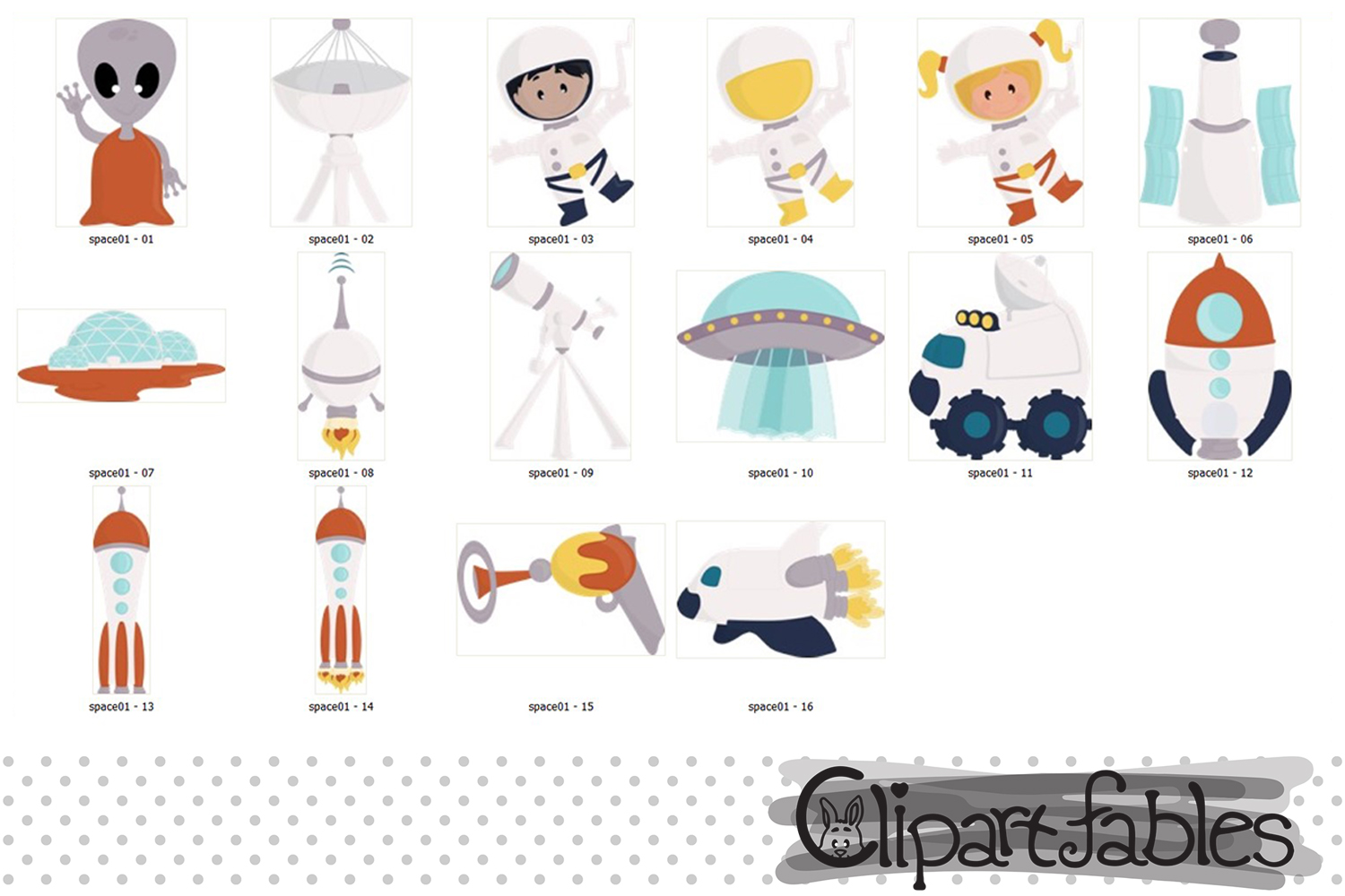 Solar system clipart, Planet clip art, Cute Space design example image 3