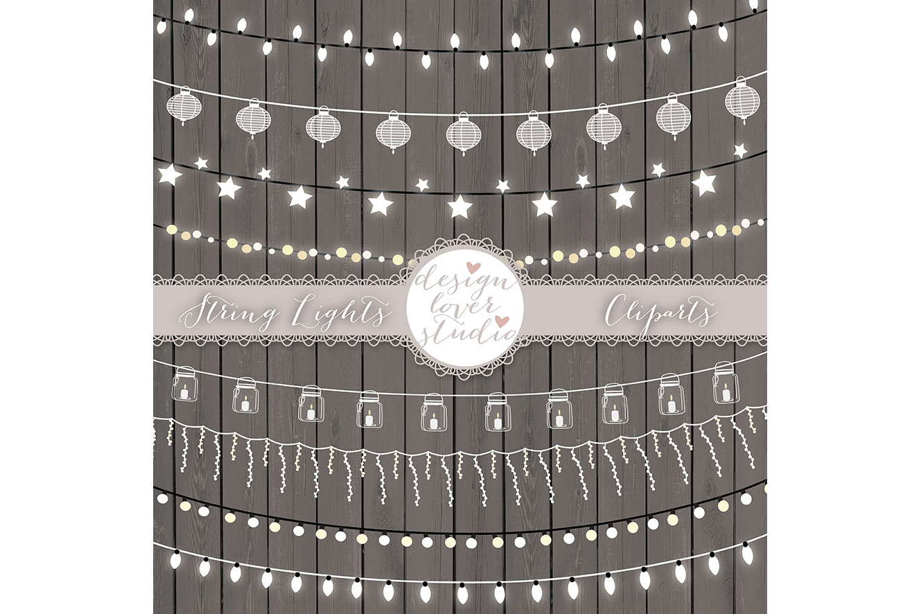 Vector lights clipart, String Lights Clipart example image 2