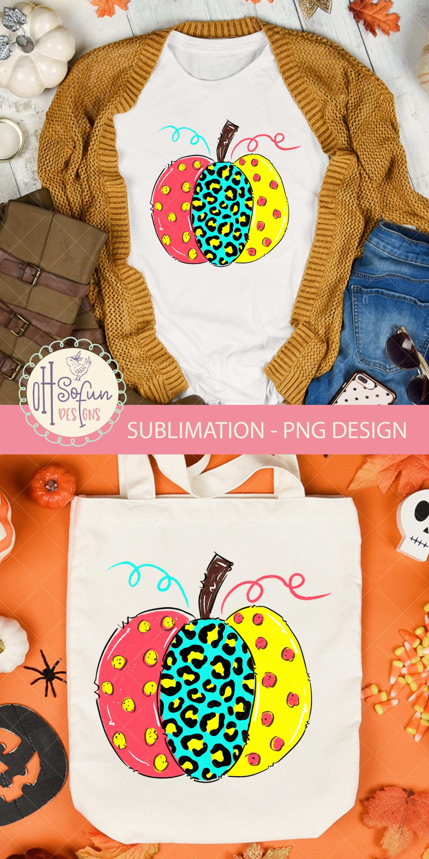 Leopard animal print, halloween pumpkin, sublimation design example image 3