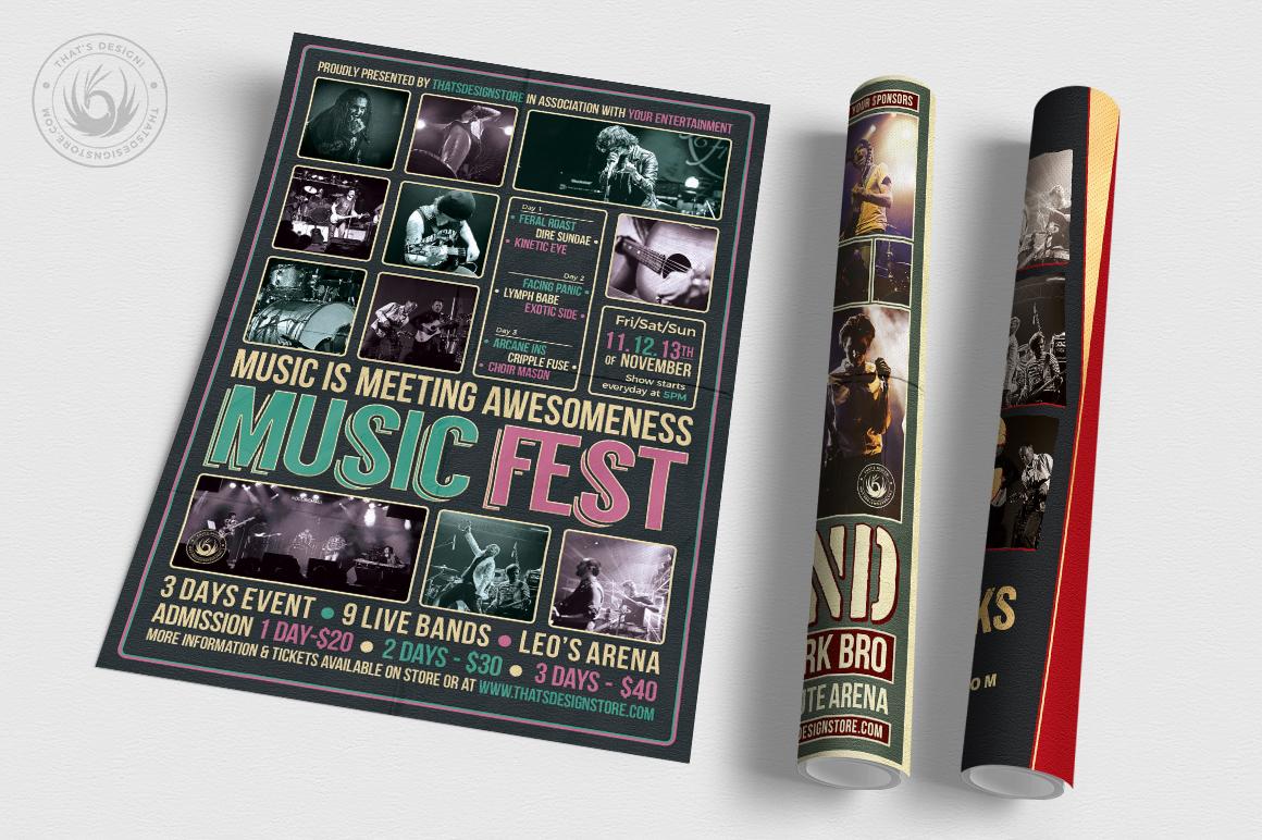 Concert Live Flyer Bundle V6 example image 3