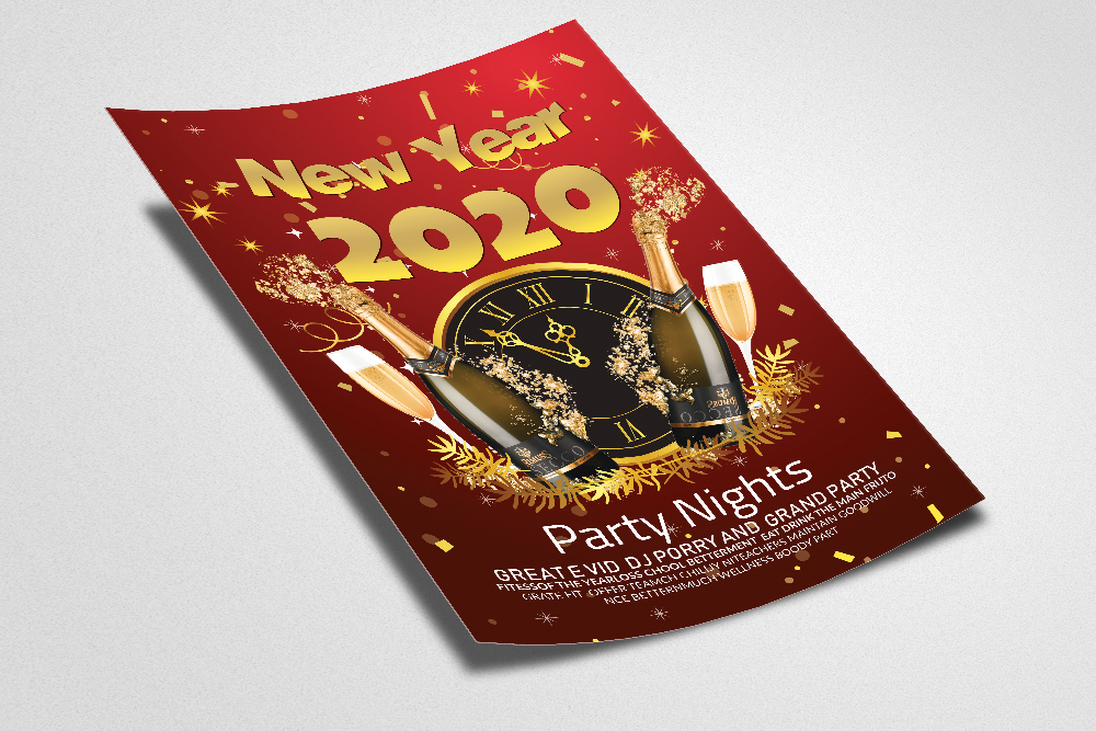 New Year Party Night Flyer/Poster example image 2