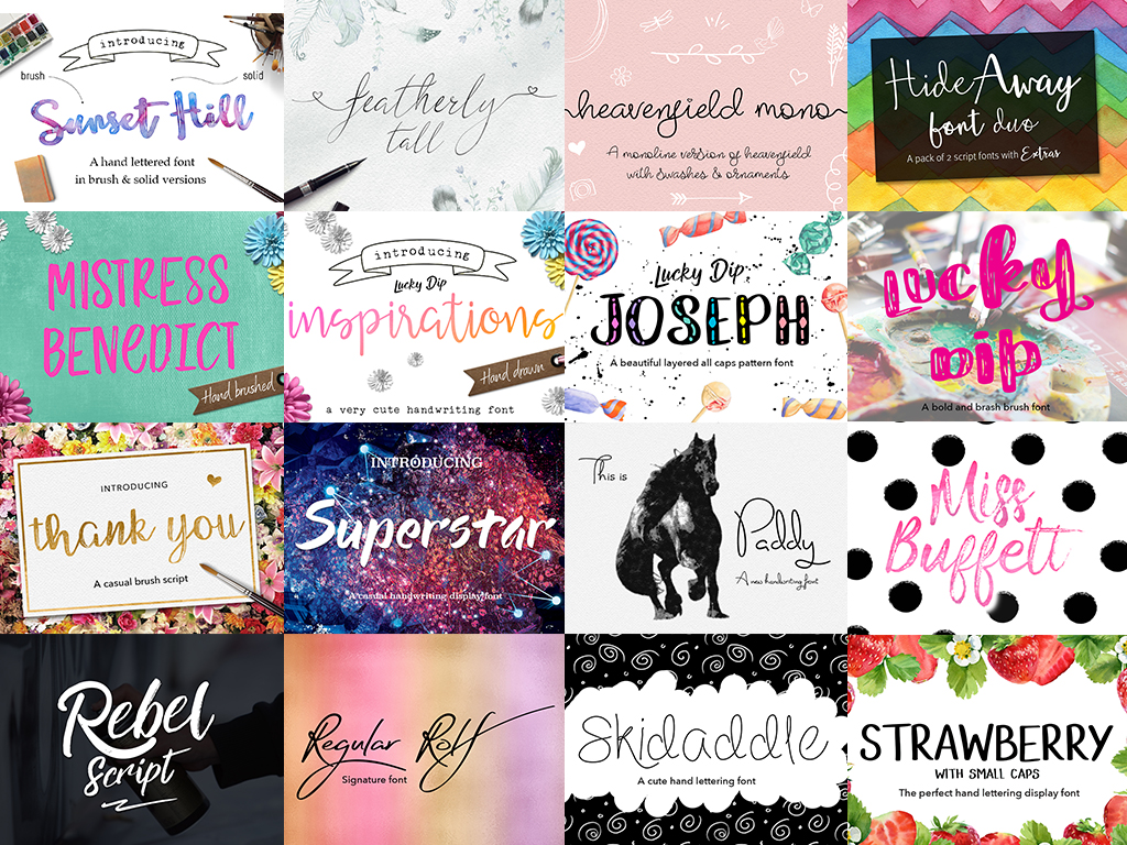 Joanne Marie 60 Font Bundle example image 5