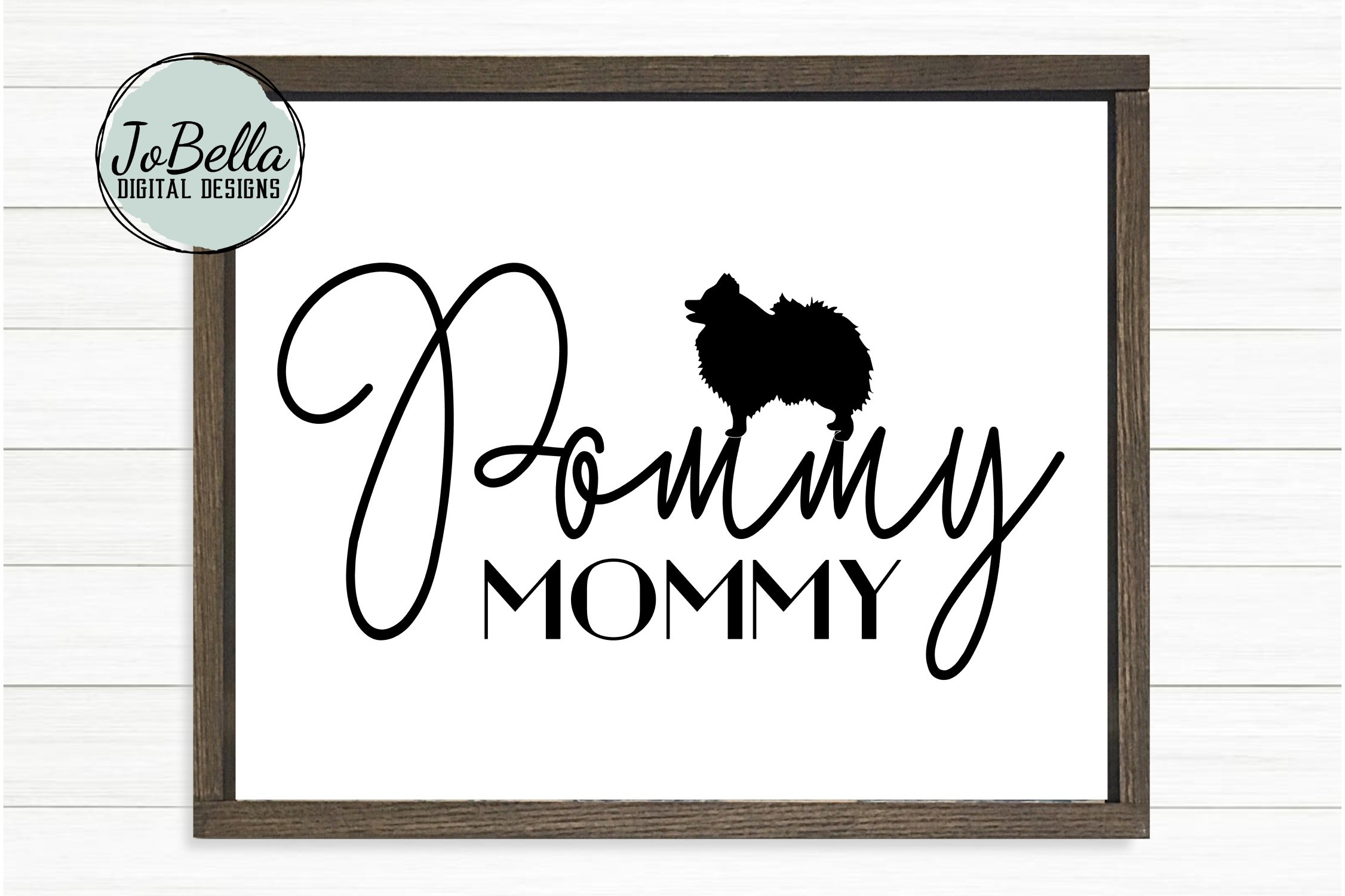 Pommy Mommy SVG and Printable Dog Lover Design example image 2