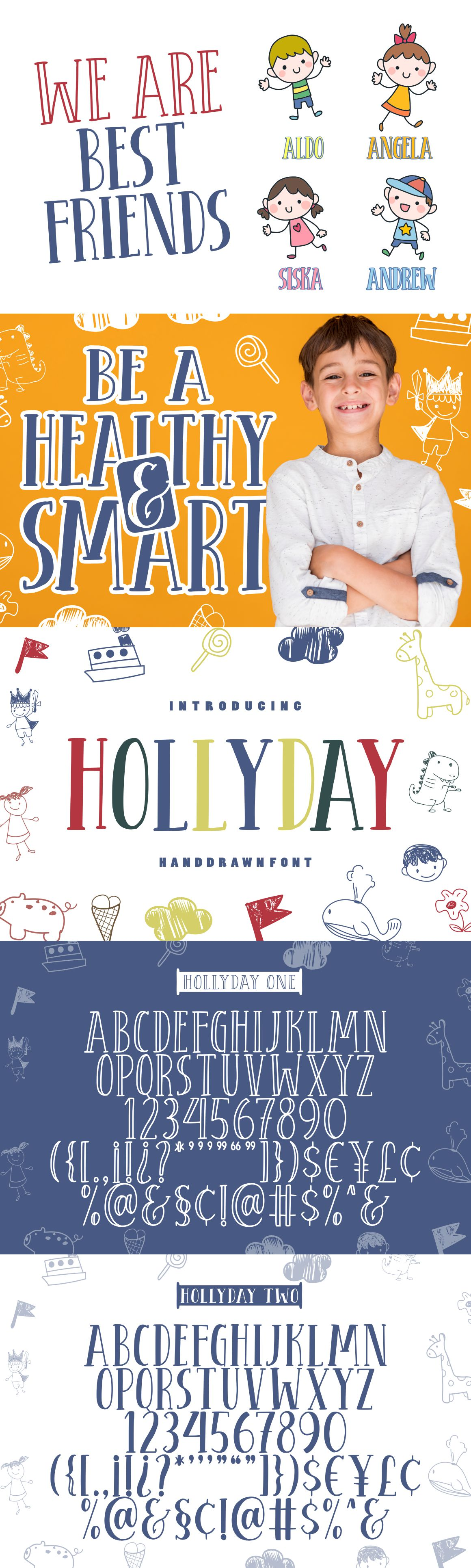 Hollyday - Handdrawn Font example image 2