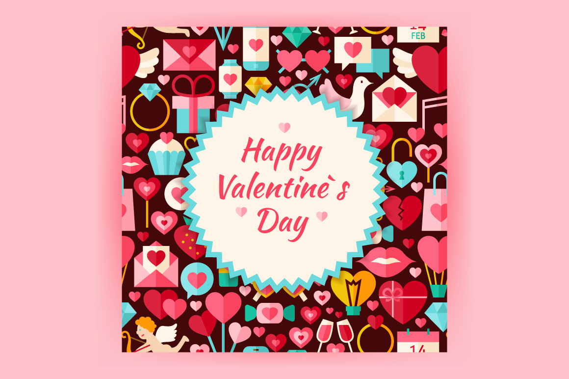 Valentine Day Vector Posters example image 3