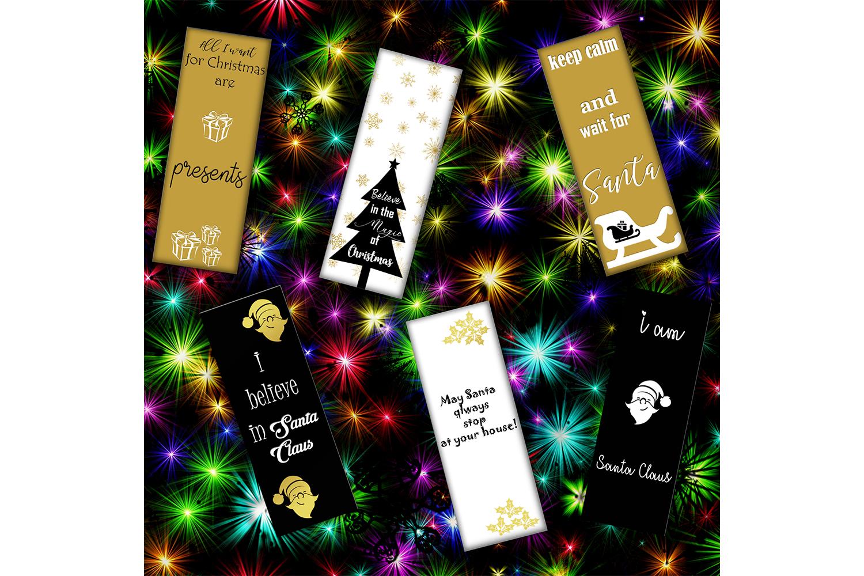 Christmas Digital Bookmarks,Christmas Printable,Christmas example image 3