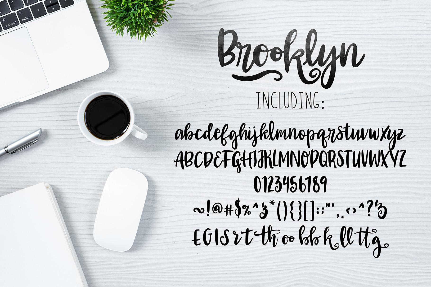 BROOKLYN Brush Script .OTF Font example image 3