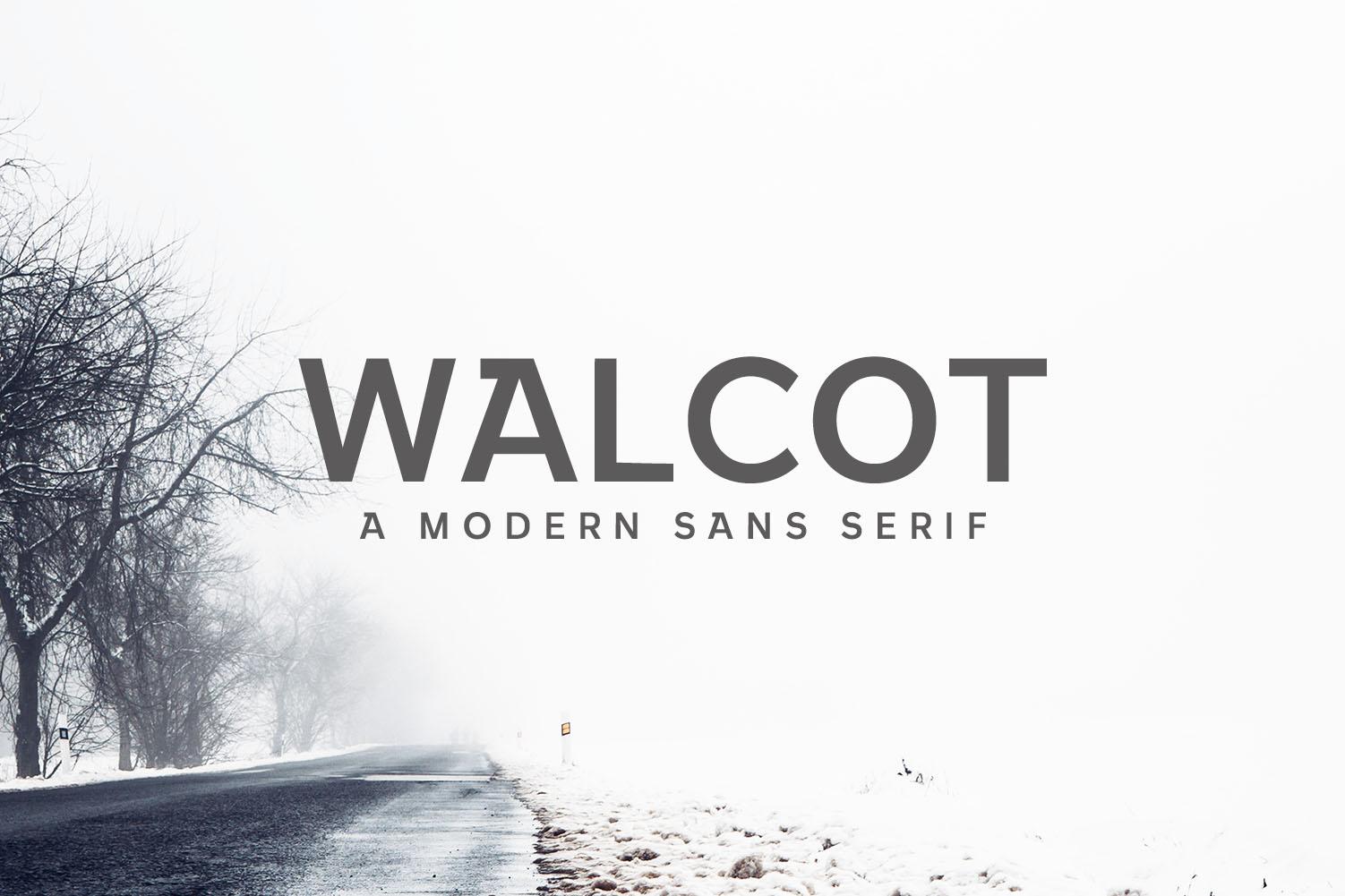 Walcot Modern Sans Serif Font example image 1