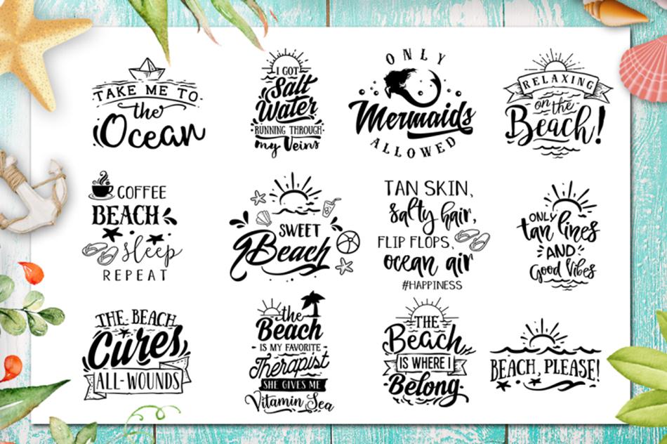 Summer SVG bundle 65 designs Beach SVG bundle example image 3