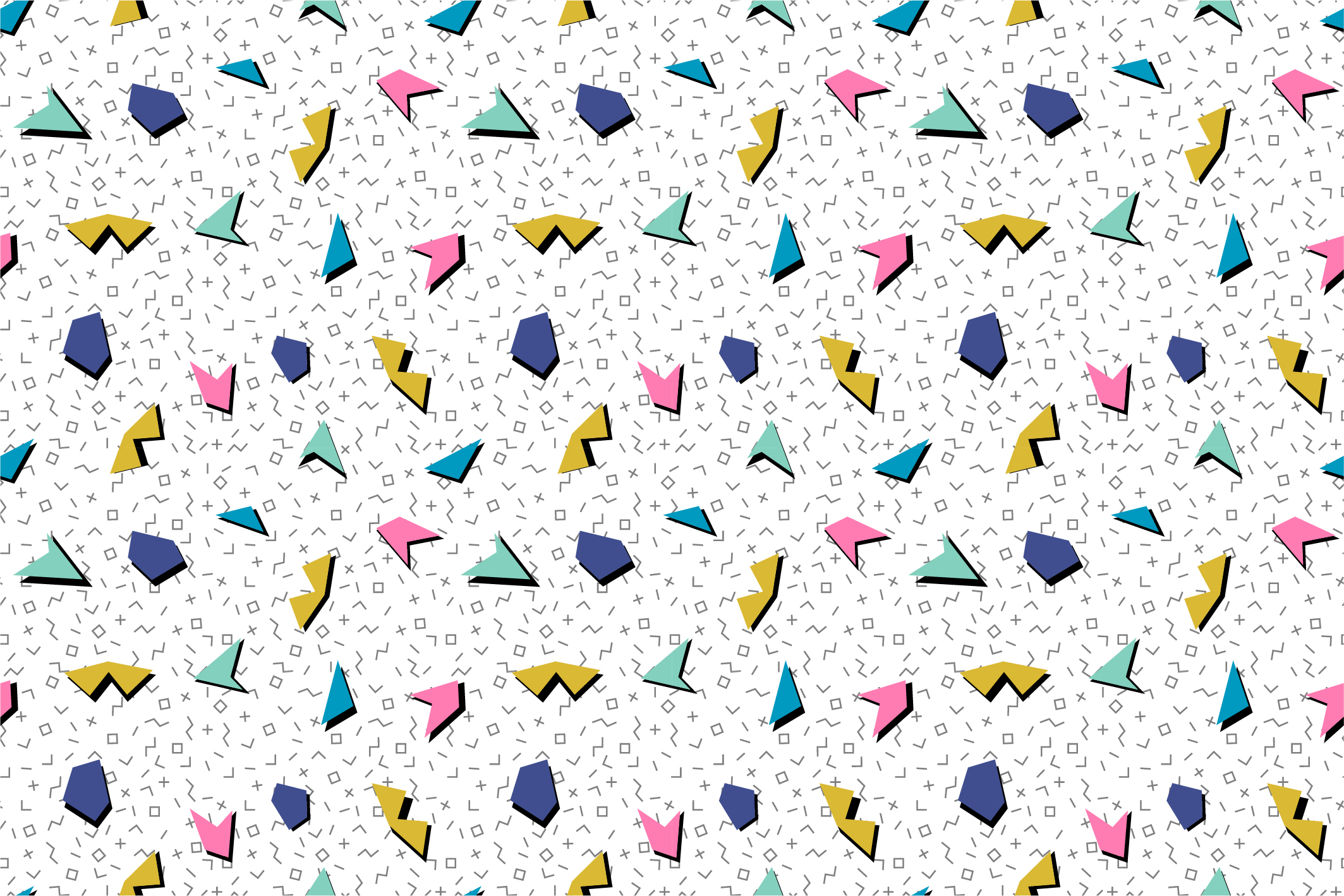 Colorful seamless memphis patterns example image 6