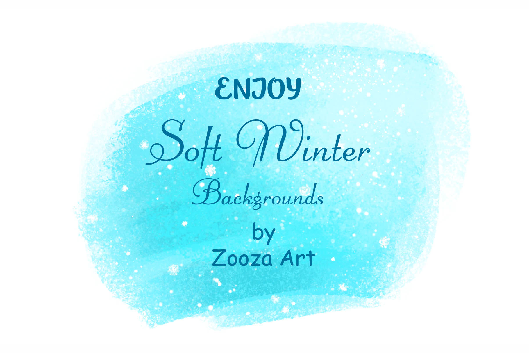 Soft winter snowy backgrounds example image 5
