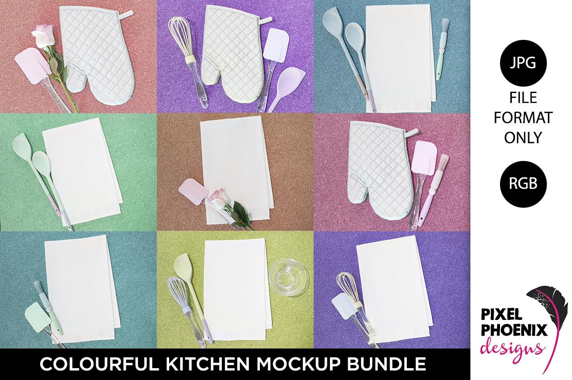 Colourful Kitchen Mockup Bundle example image 1