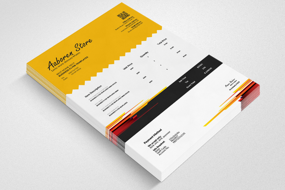 Professional Invoice Template example image 2