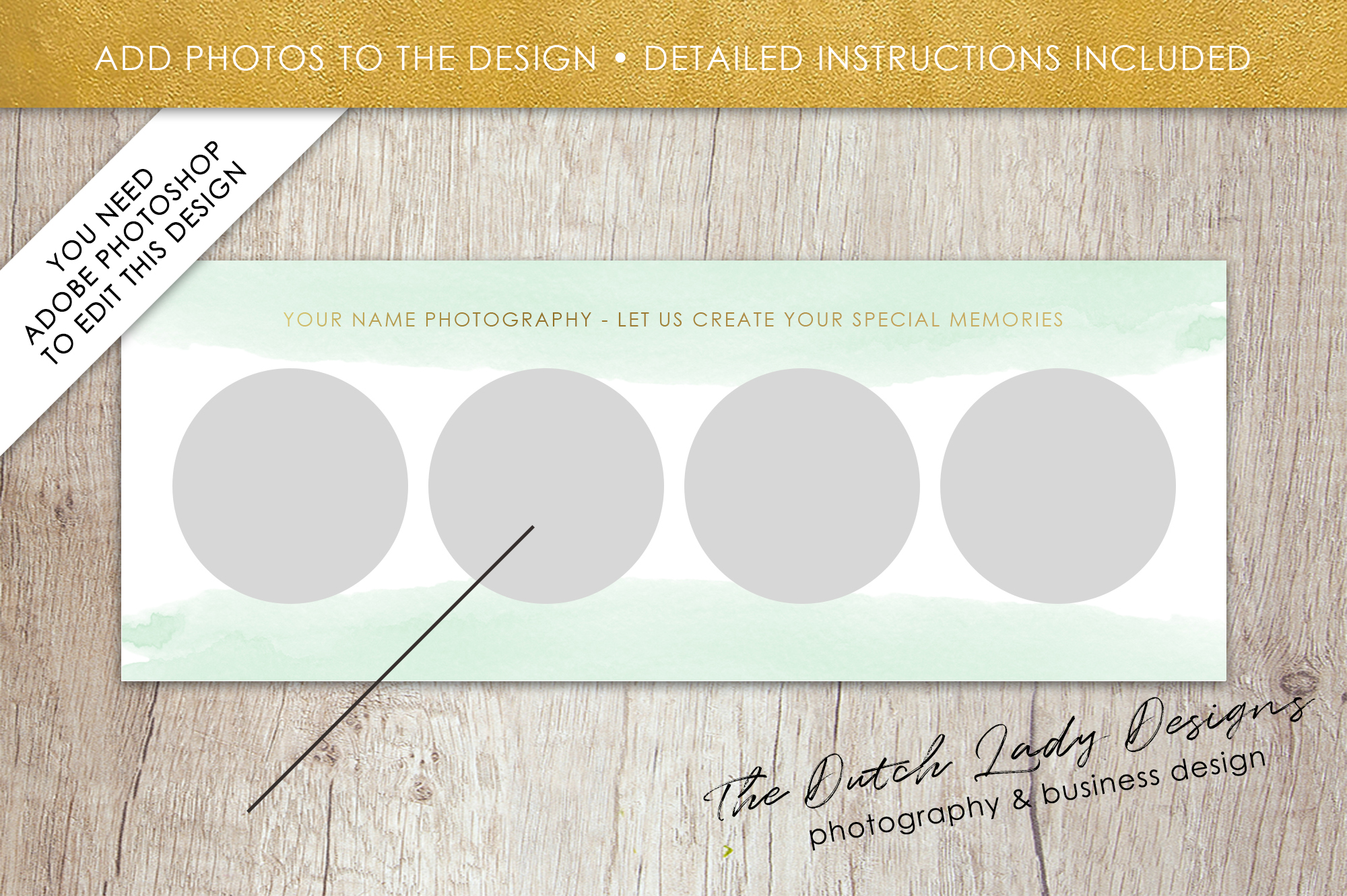 Photography Facebook Cover Banner Template - Design #13 example image 2