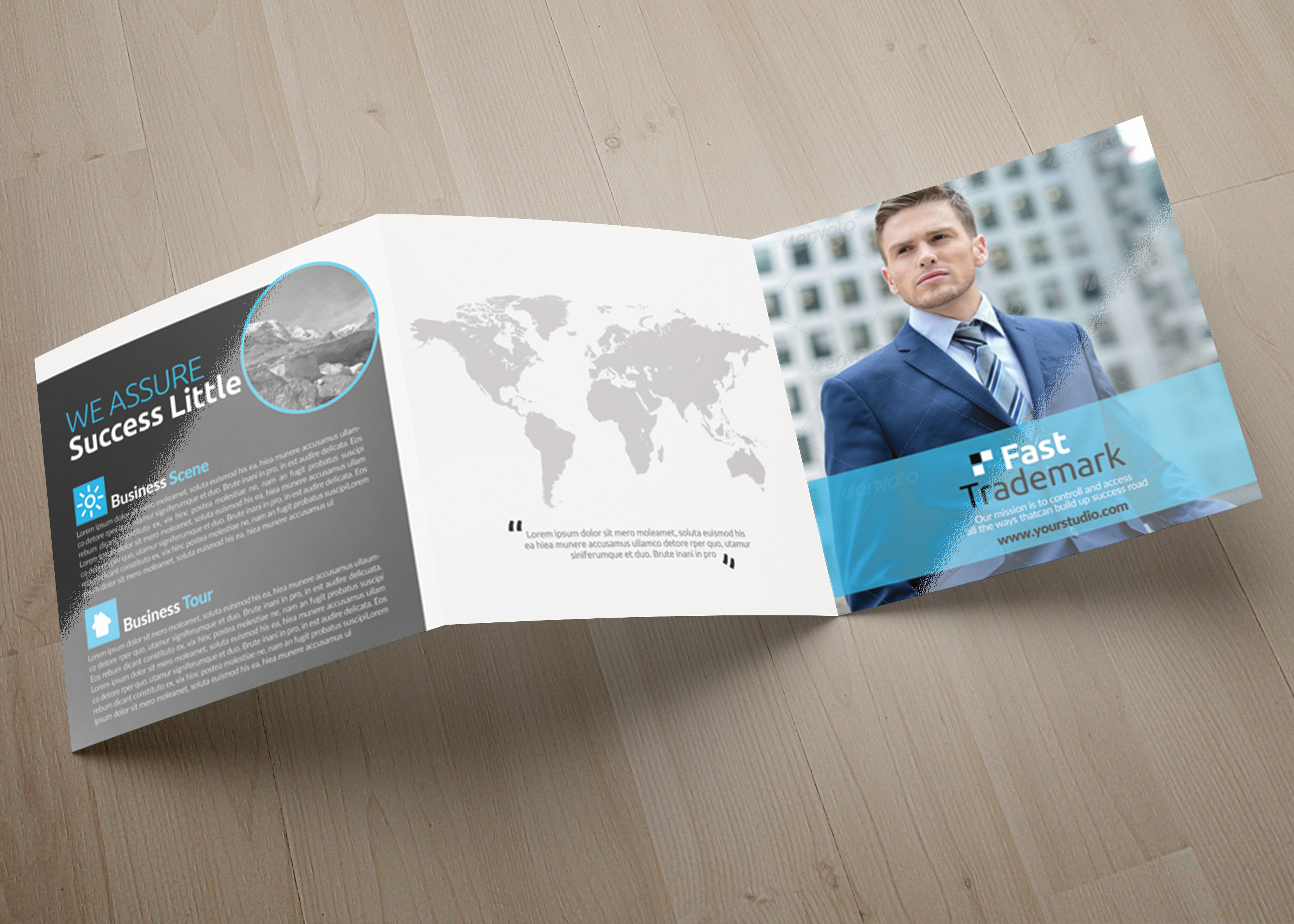 Multi Use Business Squre Trifold Brochure example image 5