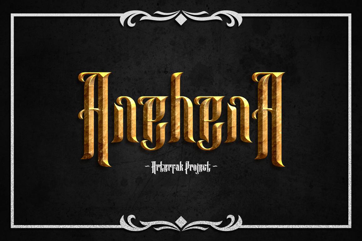 Anehena Typeface example image 1