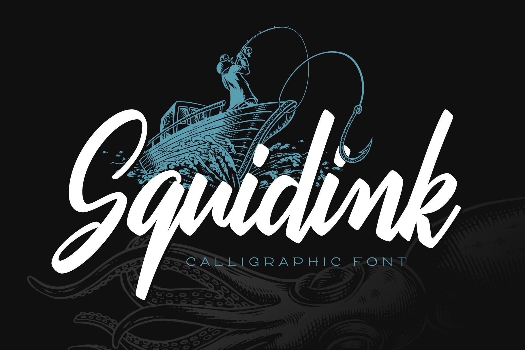 Squidink font & graphics example image 1