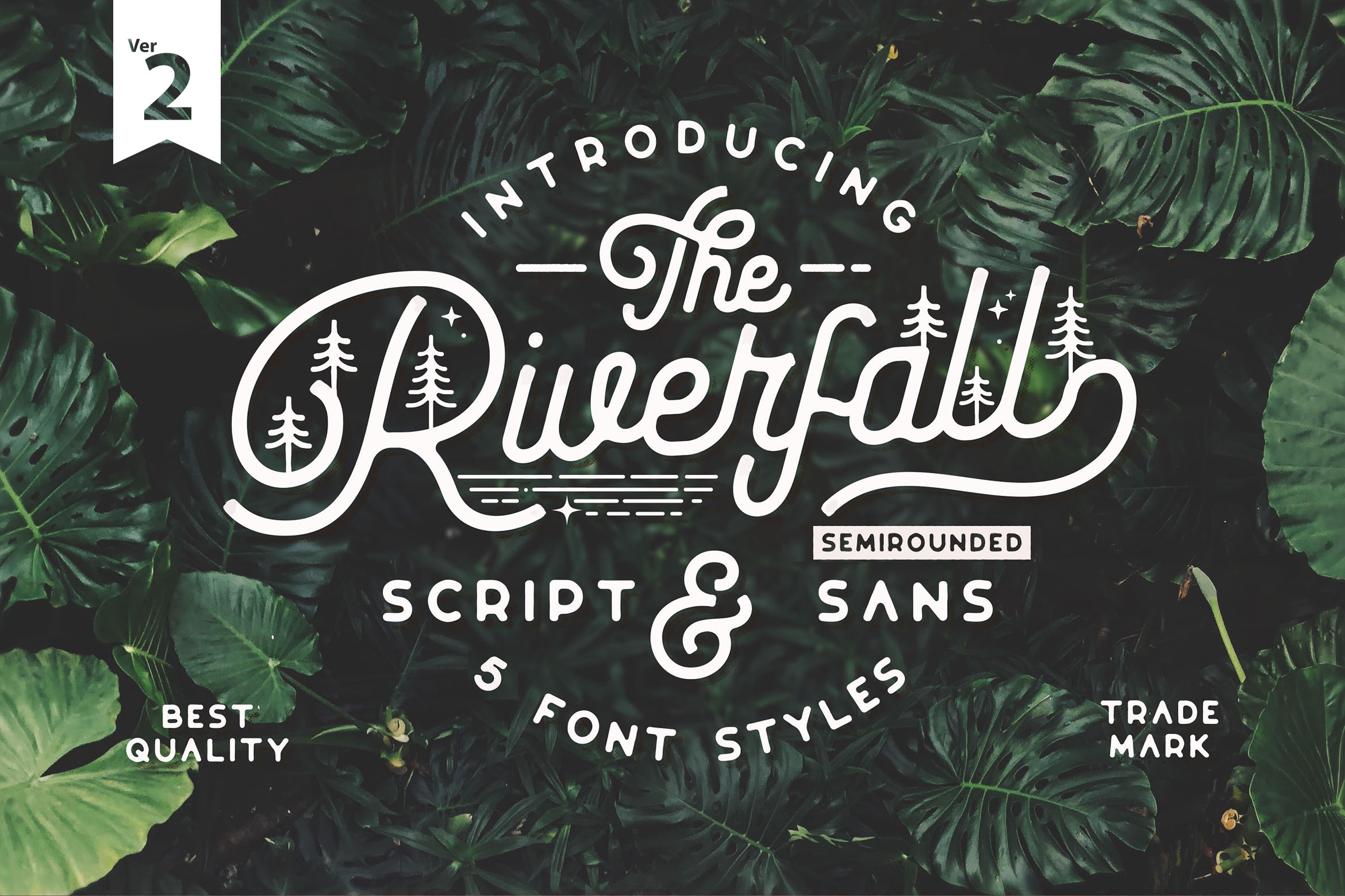 Riverfall Semi rounded Script and Sans Ver.2 example image 1