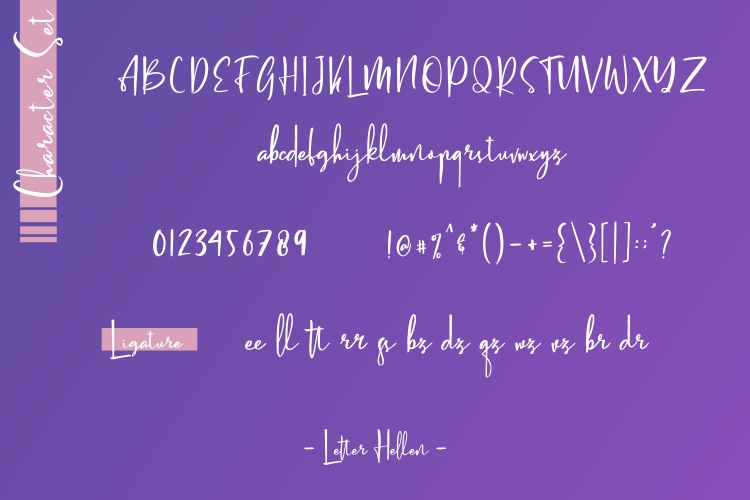 Letter Hellen Signature Dry Brush example image 6