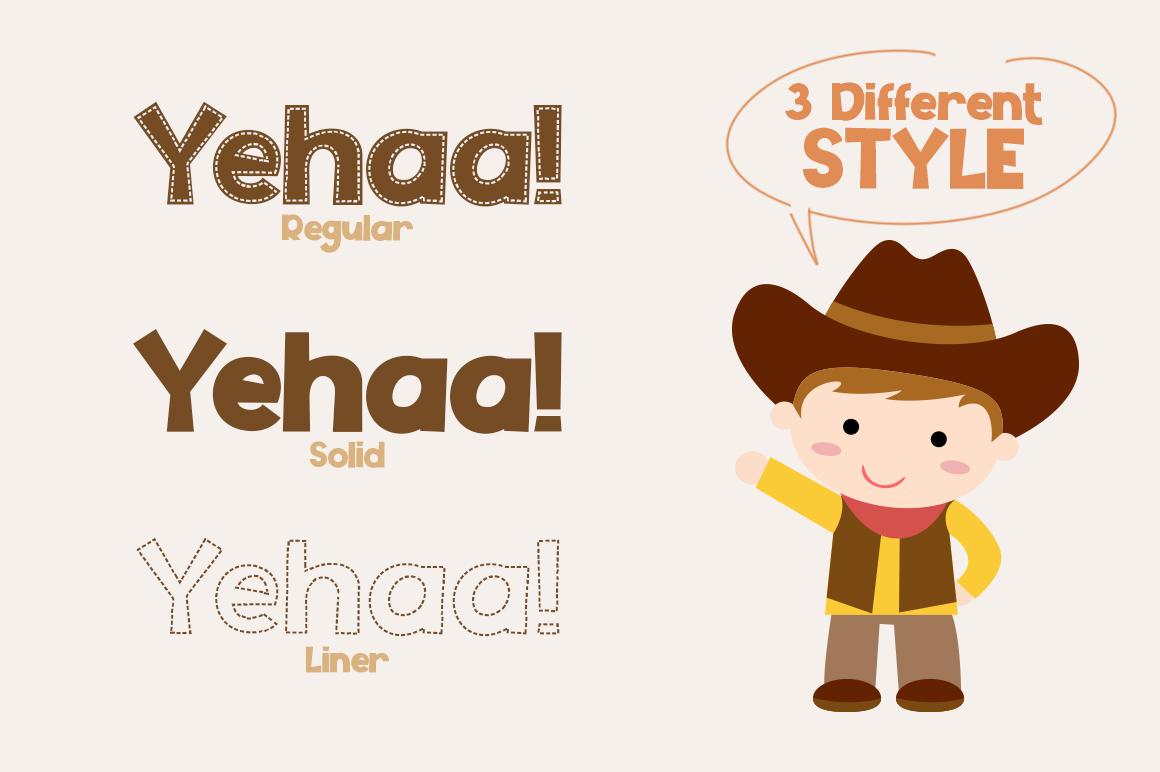 Yehaa! Layered Font example image 3