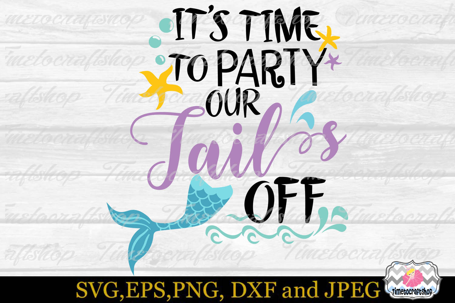 SVG, Eps, Dxf & Png for It's Time To Party Our Tail Off example image 2