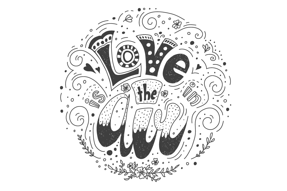 Lettering concept Love is in the Air example image 3