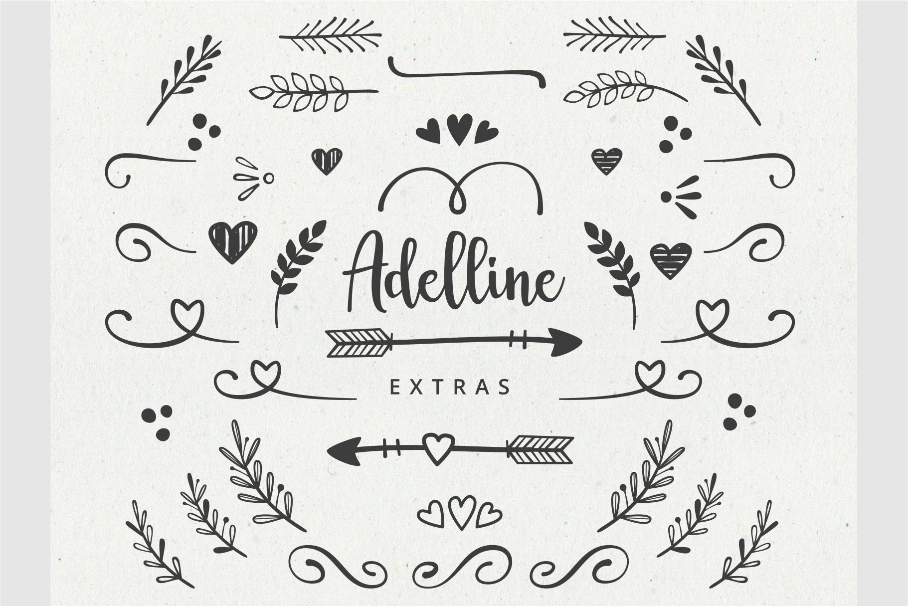 Adelline | beautiful elegant font example image 6