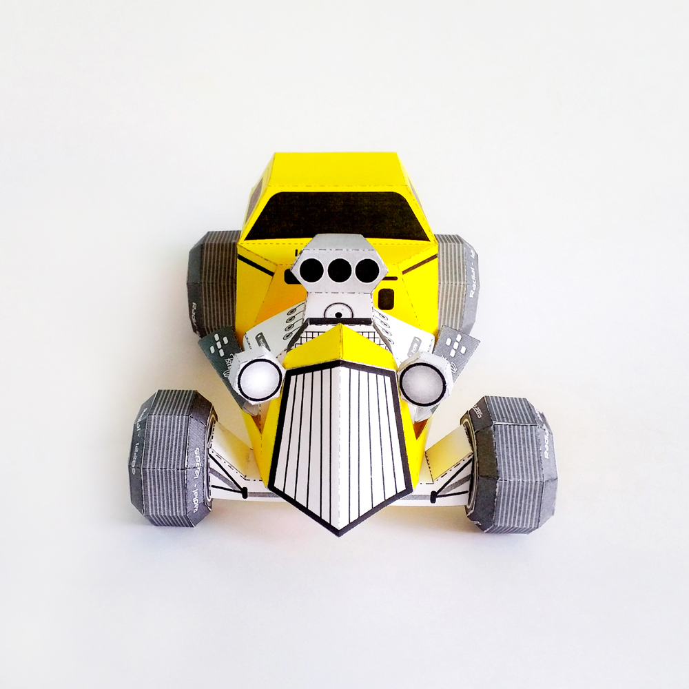 DIY Paper Car - 3d papercraft example image 3