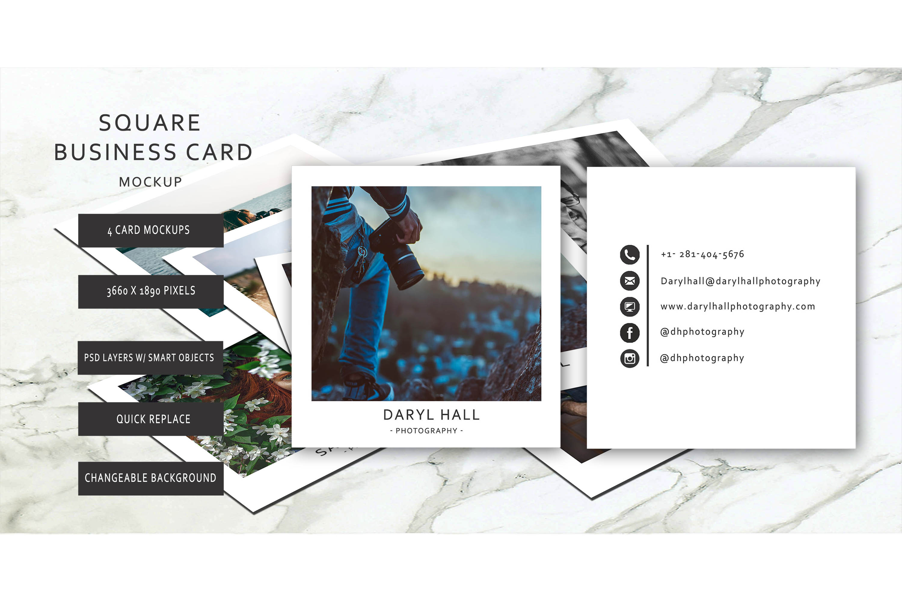 Business Card Template/ Polaroid Template example image 4
