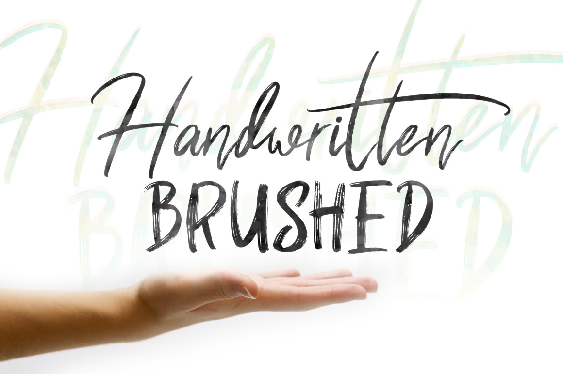 Shutten Reason - Duo Handwritting Brush Font example image 7