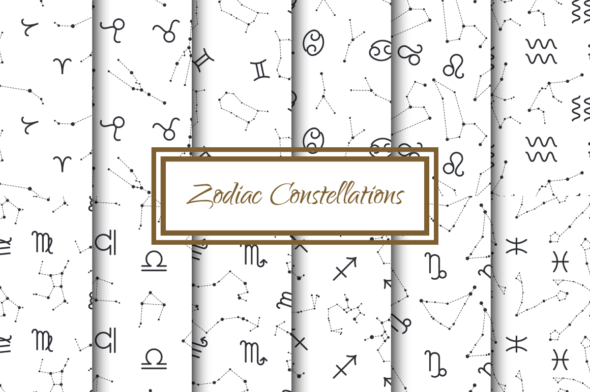 Zodiac Constellations Patterns example image 1