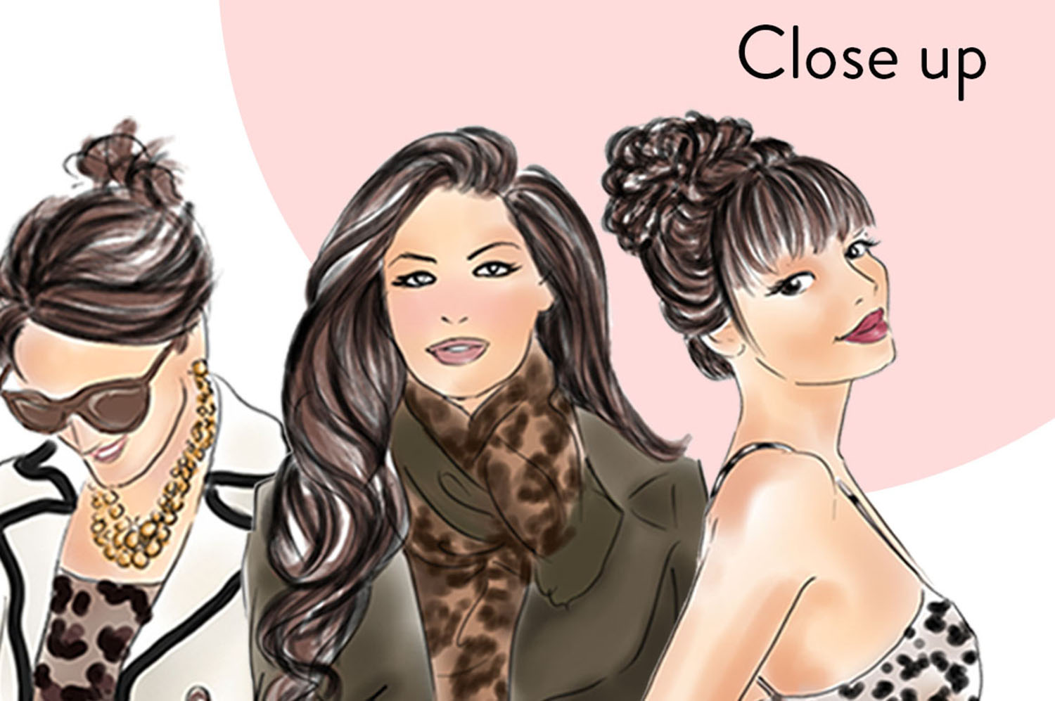 Animal print girls Watercolour fashion clipart example image 2